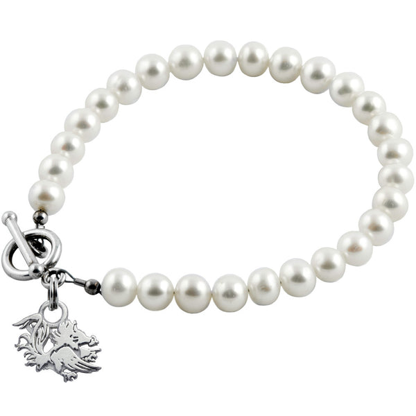 Collegiate University of South Carolina Gamecocks Pearl Bracelet