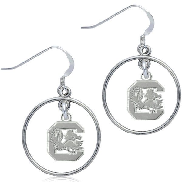Collegiate University of South Carolina Open Drop Earrings