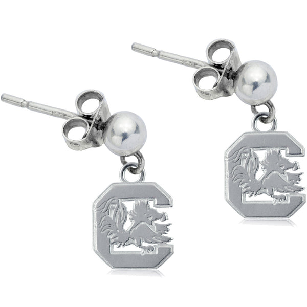 Collegiate University of South Carolina Logo Post Dangle Earrings