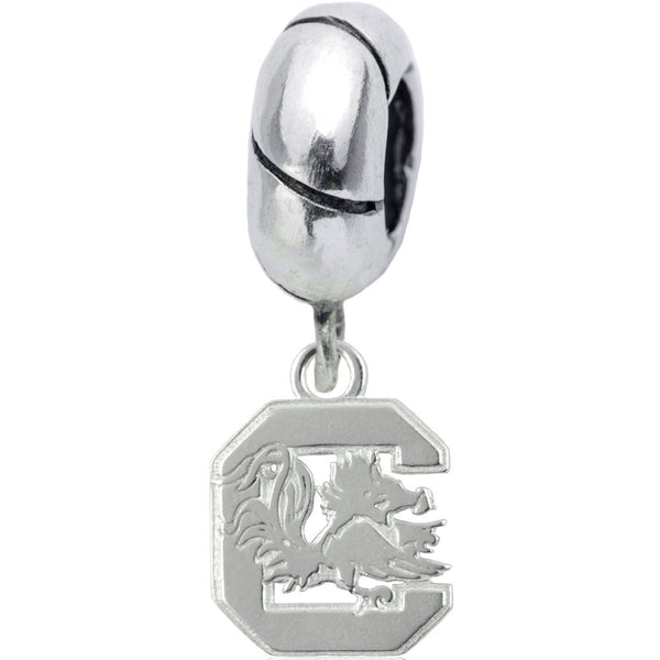 Collegiate Sterling Silver University of South Carolina Slider Bead