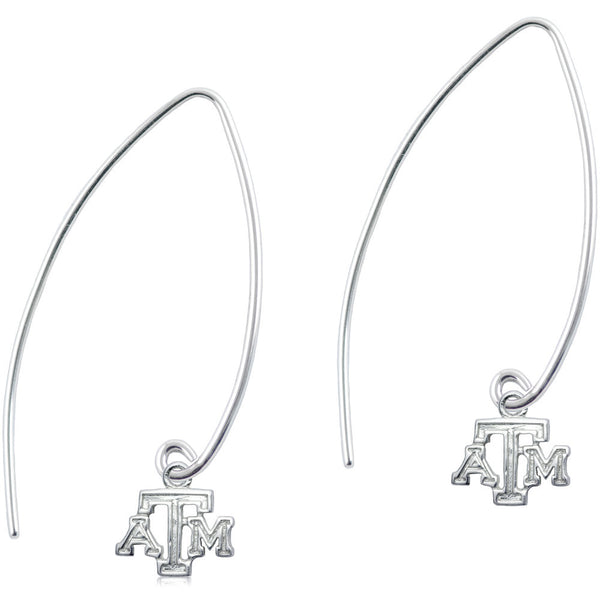 Collegiate Texas A&M University Long Fishhook Earrings