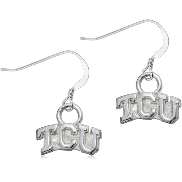 Collegiate Texas Christian University Logo Dangle Earrings