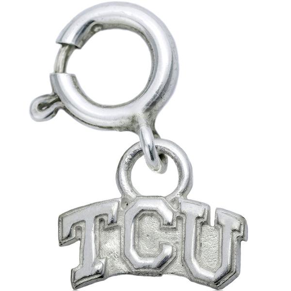 Collegiate Texas Christian University Logo Spring Ring Charm
