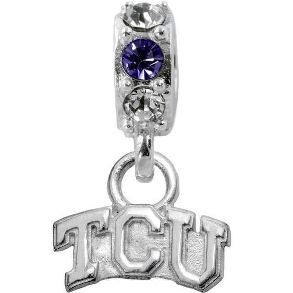 Collegiate Texas Christian University Colorful Spirit Slider Bead