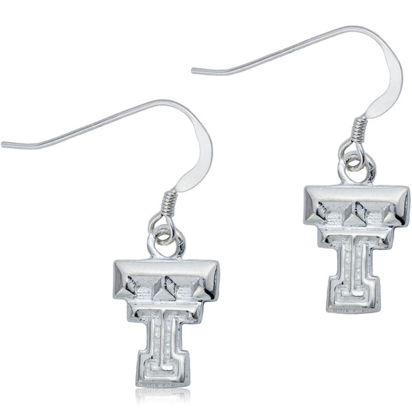 Collegiate Texas Tech University Logo Dangle Earrings