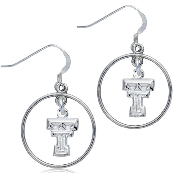 Collegiate Texas Tech University Open Drop Earrings