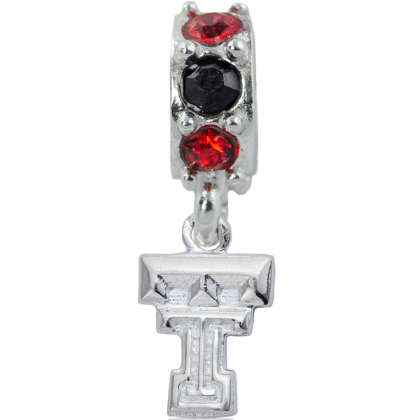 Collegiate Texas Tech University Colorful Spirit Slider Bead