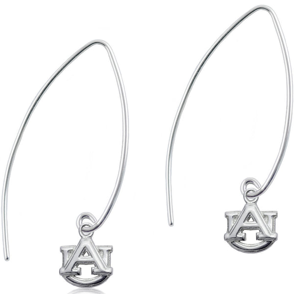 Collegiate University of Alabama Long Fishhook Earrings