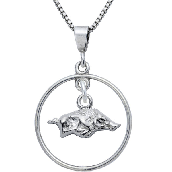 Collegiate University of Arkansas Razorbacks Open Drop Necklace
