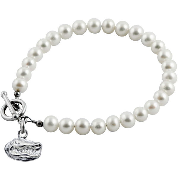 Collegiate University of Florida White Freshwater Pearl Bracelet