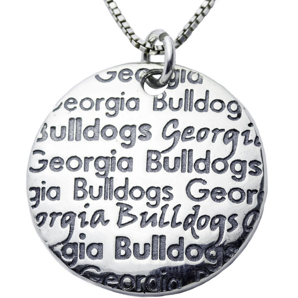 Collegiate University of Georgia Infinity Necklace