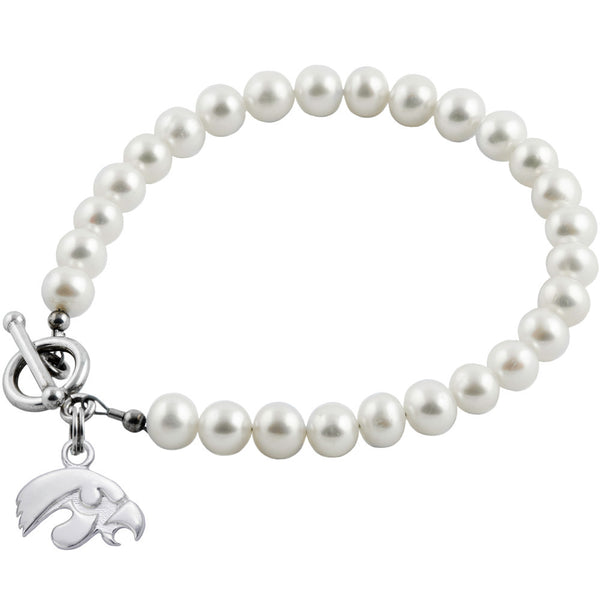 Collegiate University of Iowa White Freshwater Pearl Bracelet