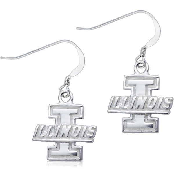 Collegiate University of Illinois Logo Dangle Earrings