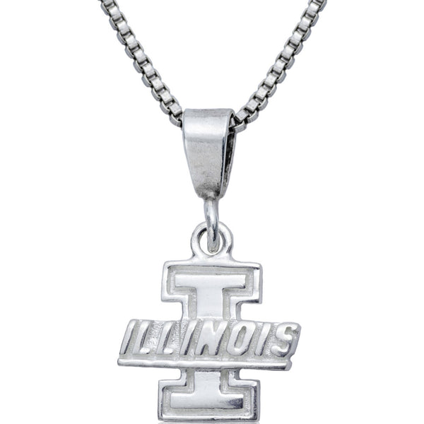 Collegiate University of Illinois Logo Necklace