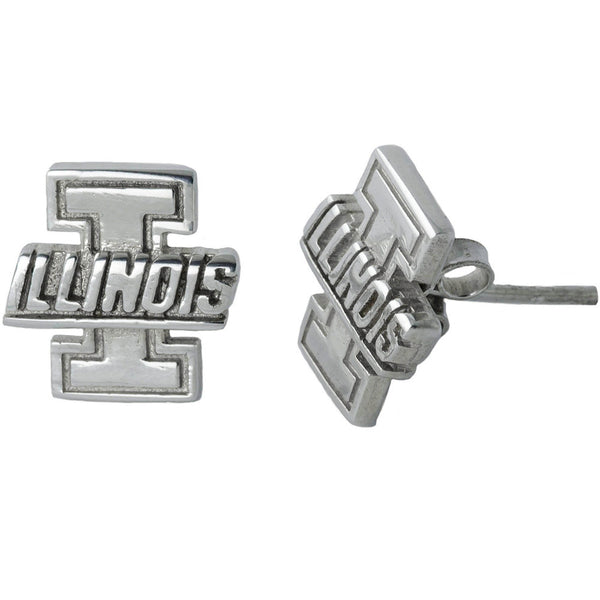 Collegiate University of Illinois Stud Earrings