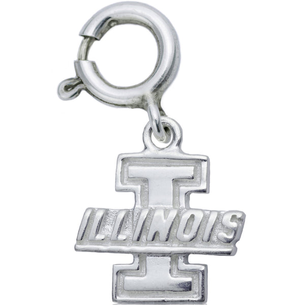 Collegiate University of Illinois Logo Spring Ring Charm