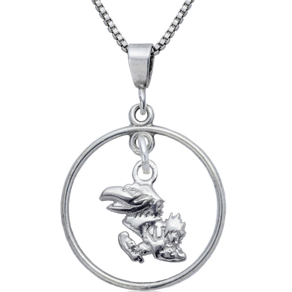 Collegiate University of Kansas Jayhawks Open Drop Necklace