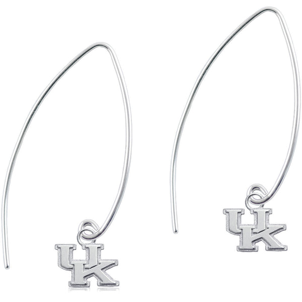 Collegiate University of Kentucky Long Fishhook Earrings