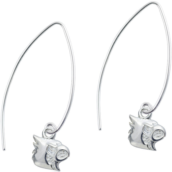 Collegiate University of Louisville Long Fishhook Earrings