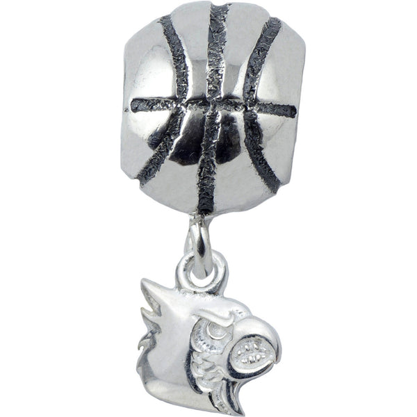 Collegiate University of Louisville Cardinal Basketball Slider Bead