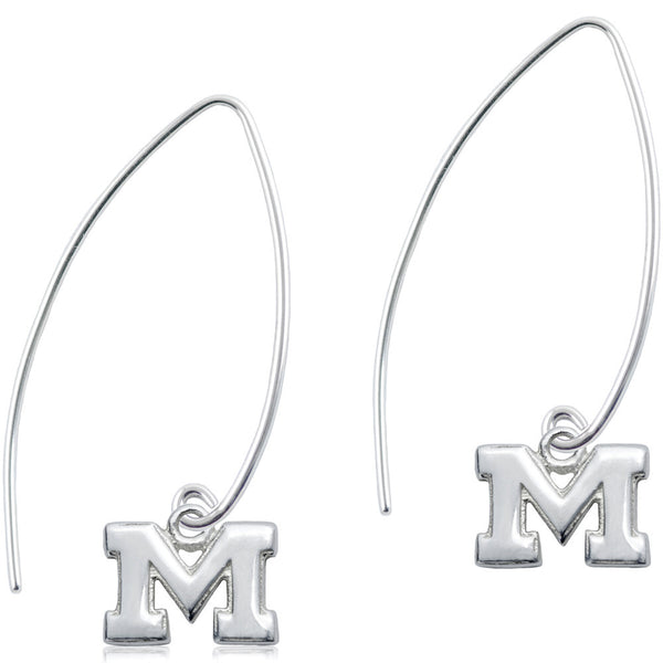Collegiate University of Michigan Long Fishhook Earrings