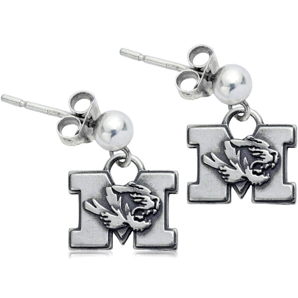 Collegiate University of Missouri Tigers Post Dangle Earrings
