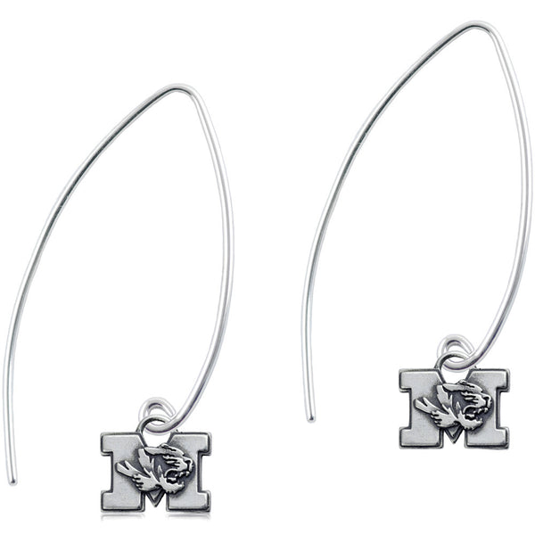 Collegiate University of Missouri Long Fishhook Earrings