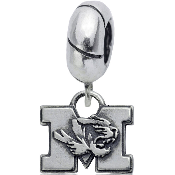 Collegiate Sterling Silver University of Missouri Slider Bead