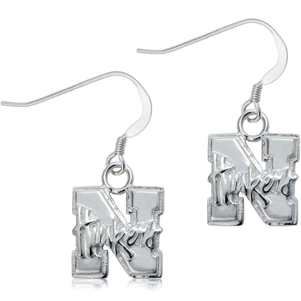 Collegiate University of Nebraska Logo Dangle Earrings