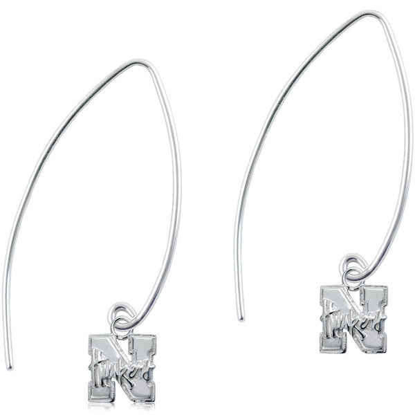 Collegiate University of Nebraska Long Fishhook Earrings