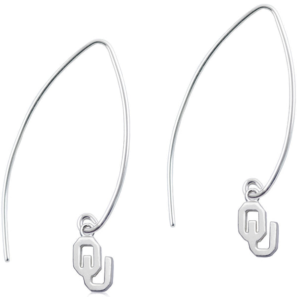 Collegiate University of Oklahoma Long Fishhook Earrings