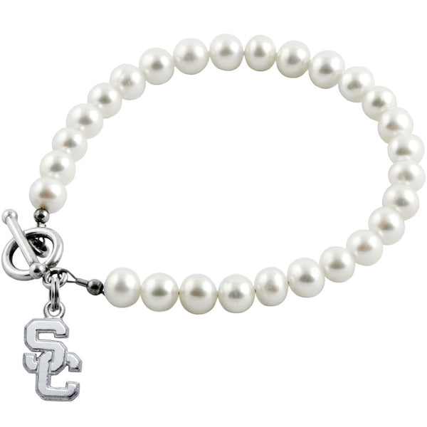 Collegiate University of Southern California Freshwater Pearl Bracelet