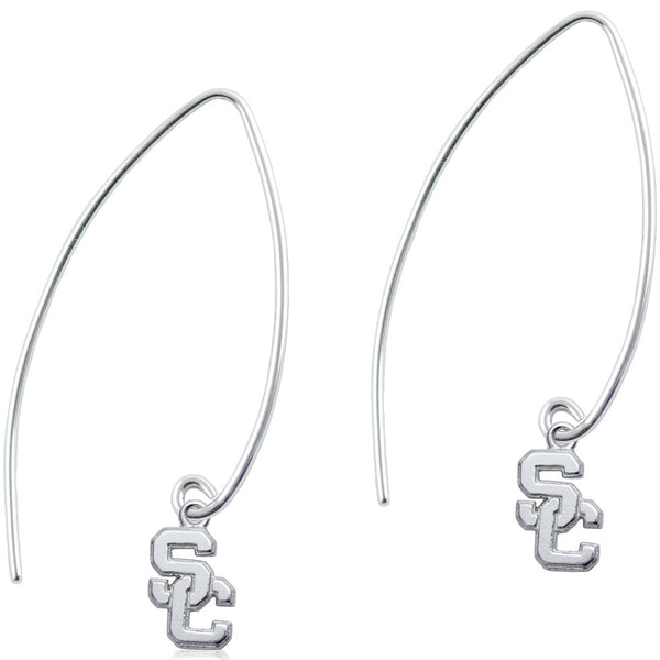 Collegiate University of Southern California Long Fishhook Earrings