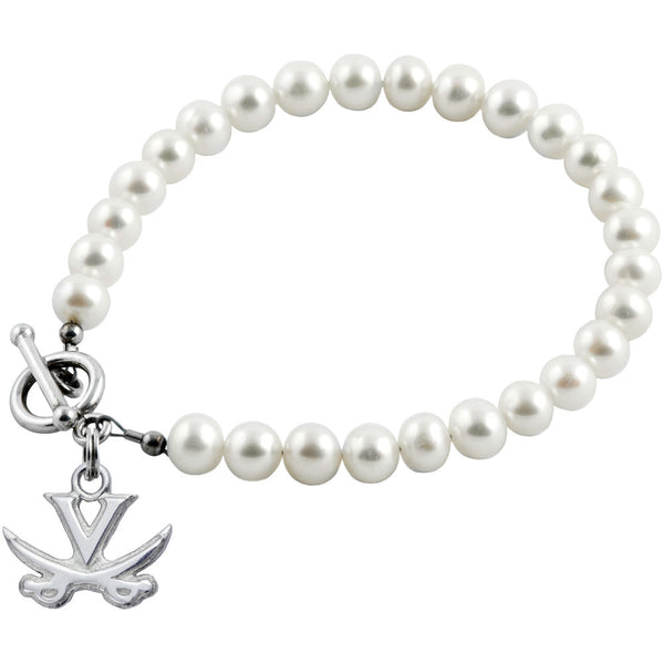 Collegiate University of Virginia White Freshwater Pearl Bracelet
