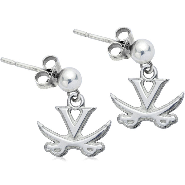 Collegiate University of Virginia Cavalier Post Dangle Earrings