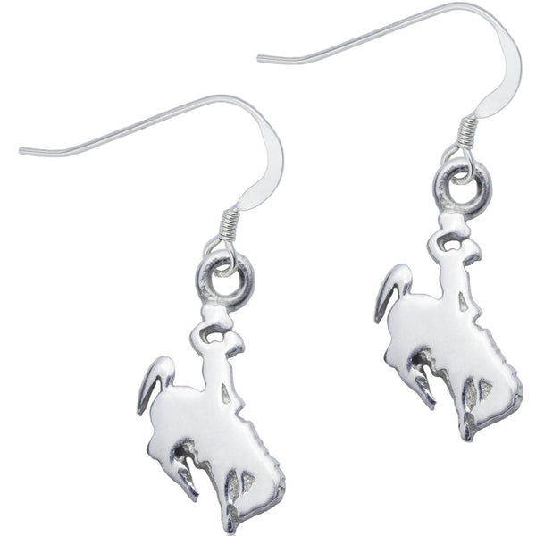 Collegiate University of Wyoming Cowboy Joe Dangle Earrings