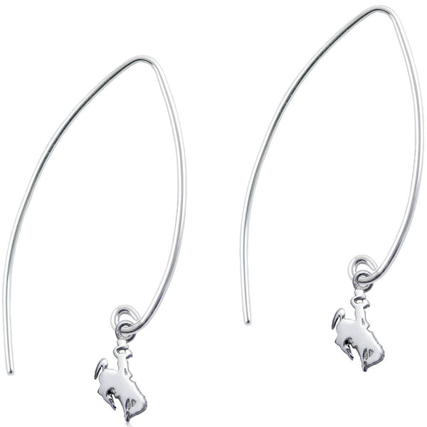Collegiate University of Wyoming Cowboy Joe Long Fishhook Earrings
