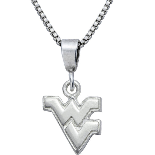 Collegiate West Virginia University Logo Necklace