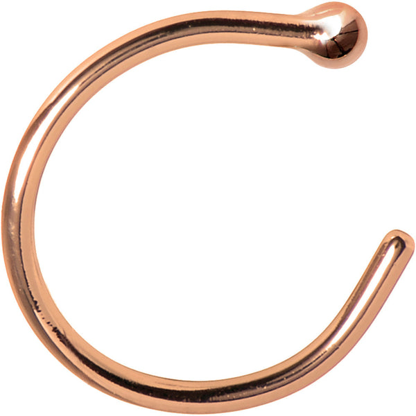 20 Gauge Solid 14KT Rose Gold Nose Hoop - 5/16