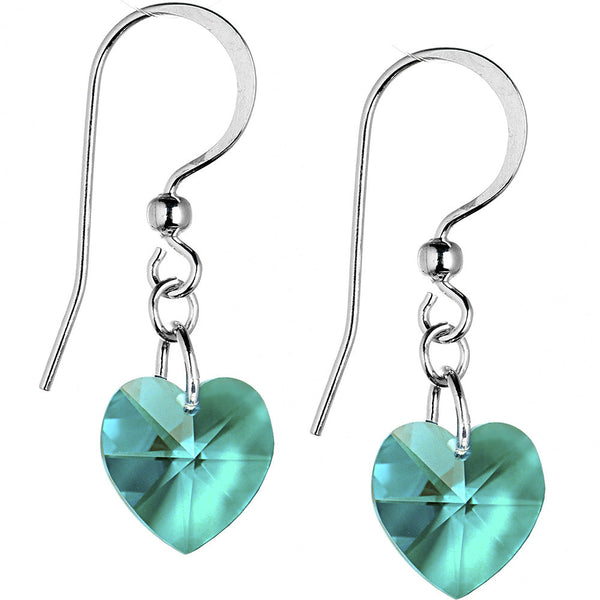 Heart December Birthstone Earrings Created with Swarovski Crystals