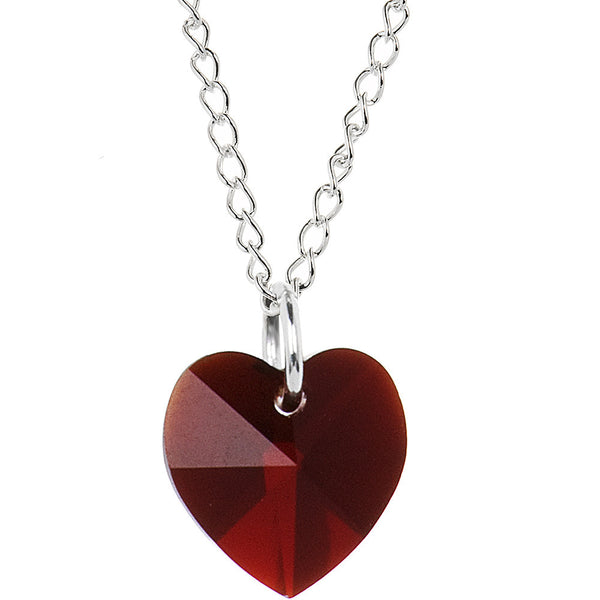 Heart January Birthstone Necklace Created with Swarovski Crystals