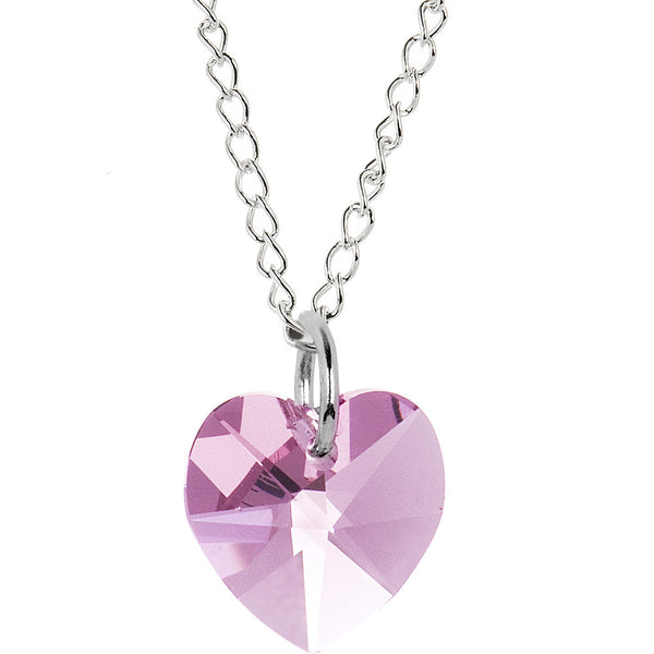 Heart June Birthstone Necklace Created with Swarovski Crystals