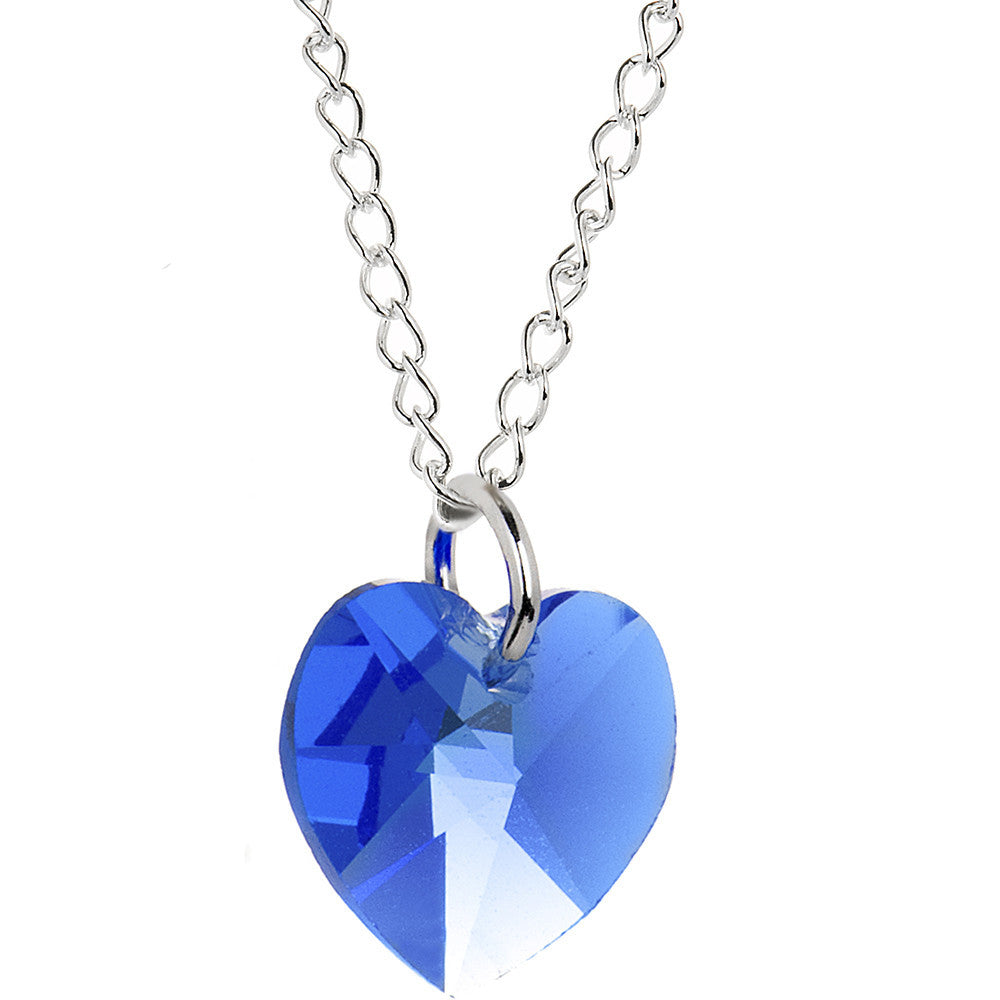 Heart September Birthstone Necklace Created With Swarovski Crystals