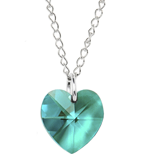 Heart December Birthstone Necklace Created with Swarovski Crystals
