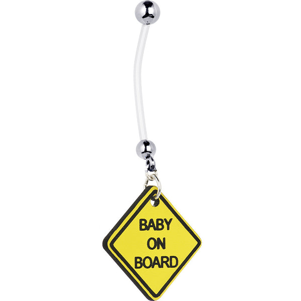Baby on Board Pregnant Belly Ring