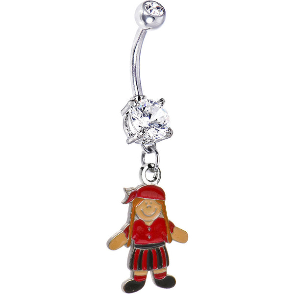 Colorful Girl Pirate Belly Ring
