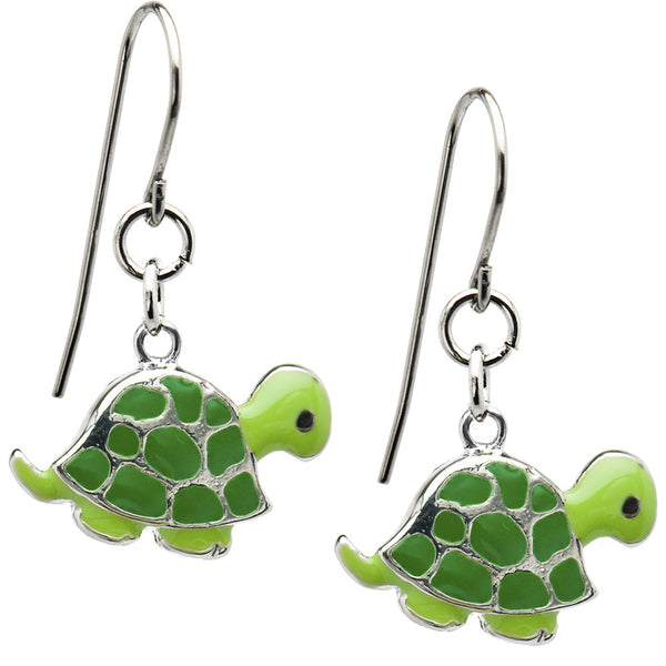 Stainless Steel Turtle Earrings