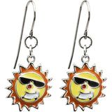 Handcrafted Stainless Steel Sunglasses Sun Earrings