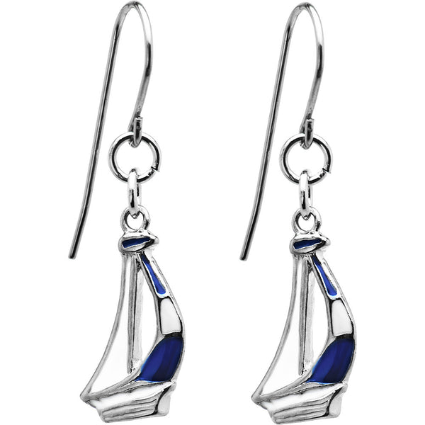 Stainless Steel Sailing Sailboat Earrings