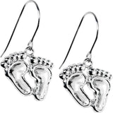 Stainless Steel Dangling Feet Earrings